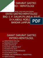 Kuliah Gawat Darurat Gastro Entero Hepatologi