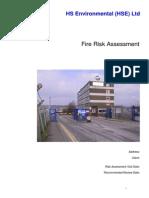 Fire Risk Assessment Sample