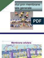 Biologie Celulara - Curs 6 -Transport Membranar