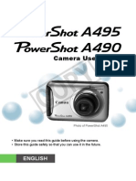 Canon Powershot A490,A495 User Guide