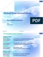 Change the Existing Account to Zimbra2 in Outlook 2007