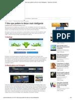 7 Sites que podem te deixar mais inteligente - Operários da Web