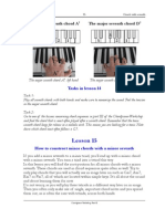 Piano lessons - Excerpt of lesson 15 from the Chordpiano-Workshop - Minor chords with minor seventh