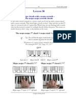 Piano lessons - Excerpt of lesson 16 from the Chordpiano-Workshop - Major chords with major seventh