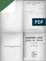 Attilio Degrassi Inscriptiones Latinae Liberae Rei Publicae, Fasciculus Prior 1963
