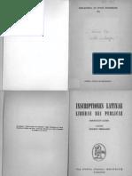 Attilio Degrassi Inscriptiones Latinae Liberae Rei Publicae, Fasciculus Alter 1963