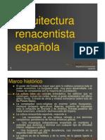 ARQUITECTURA RENANCENTISTA ESPAÑOLA