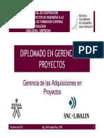 Diplomado en Gerencia de Proyectos Adquisiciones