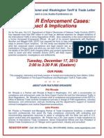 Enforcement Audio Conference Flyer