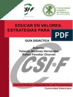 V14.1 - Educar en Valores. Estrategias Para El Aula
