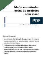 Slides Projetos Sem Risco Adm. Fin. II