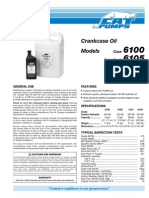 CAT Crankcase Oil Data Sheet