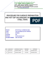 Sample Galvanizing Procedure +ITP