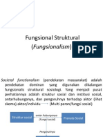 Kuliah Sosiologi (6) - Teori Fungsional Struktural