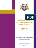National Survey Corruption Ethics 2012