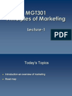 Principles of Marketing - MGT301 Power Point Slides Lecture 1