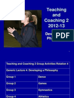 Developing a Coaching Philosophy