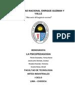 Monografía - La psicopedagogía