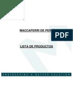 Lista de Productos Maccaferri