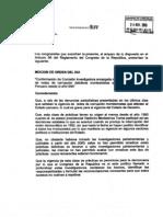 Moción para investigar red de corrupción Montesinista desde los 90's