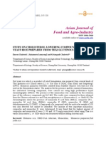 Study on Cholesterol Lowering Compounds in Red Yeast Rice Prepared From Thai Glutinous Rice