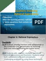 6 4 equations involving rational expressions