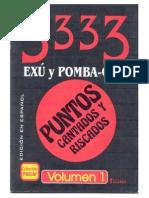 34194 3333 Livro de Ponto Riscado de Exu Pomba Gira