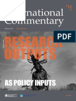 Research Output as Policy Inputs, July 2013