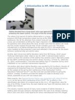 HeadsUP Stellite Delamination in HP, HRH Steam Valve
