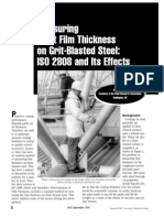 Measuring Paint Film Thickness on Grit Blasted Steel ISO 2808 and Its Effects