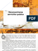 Deconcentrarea serviciilor publice