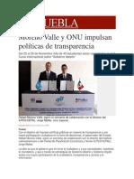 25-11-2013 Milenio.com - Moreno Valle y ONU impulsan políticas de transparencia