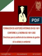 FORMACIÓN DE AUDITORES INTERNOS EN ISO 19011 CONFORME A LA NORMA ISO 19011-2002