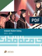 Graduate Catalog 2013 2014