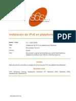6SOS Instalacion IPv6 Windows v4 0