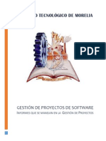 Informes generados en la Gestión  de Proyectos