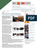 """La Stampa - Ruby, chiesti 6 anni per Berlusconi """"Ad Arcore un contesto prostitutivo"""""""