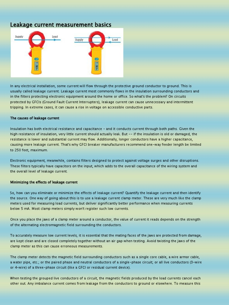 Leakage Current Measurement Basics | Electric Current | Capacitor
