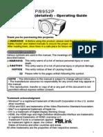 UserManual for Dukan 895x Projectors