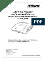 UserManual for Dukane UST Projectors