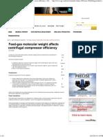 Feed-Gas Molecular Weight Affects Centrifugal Compressor Efficiency