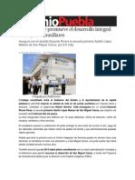 25-11-2013 Sexenio Puebla - Moreno Valle Promueve El Desarrollo Integral de Las Juntas Auxiliares