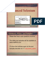 Neal Ford Advanced Selenium Handouts
