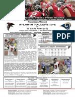 Atlanta Falcons vs. St. Louis Rams Preseason Game 2