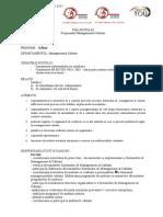 Fisa Post Adina Covaci - RMC