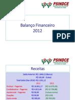 Balanço Financeiro 2012