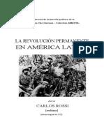 Carlos Rossi - La Revolución permanente en América Latina