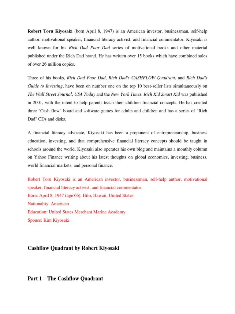 Ebook Cashflow Quadrant Bahasa Indonesia