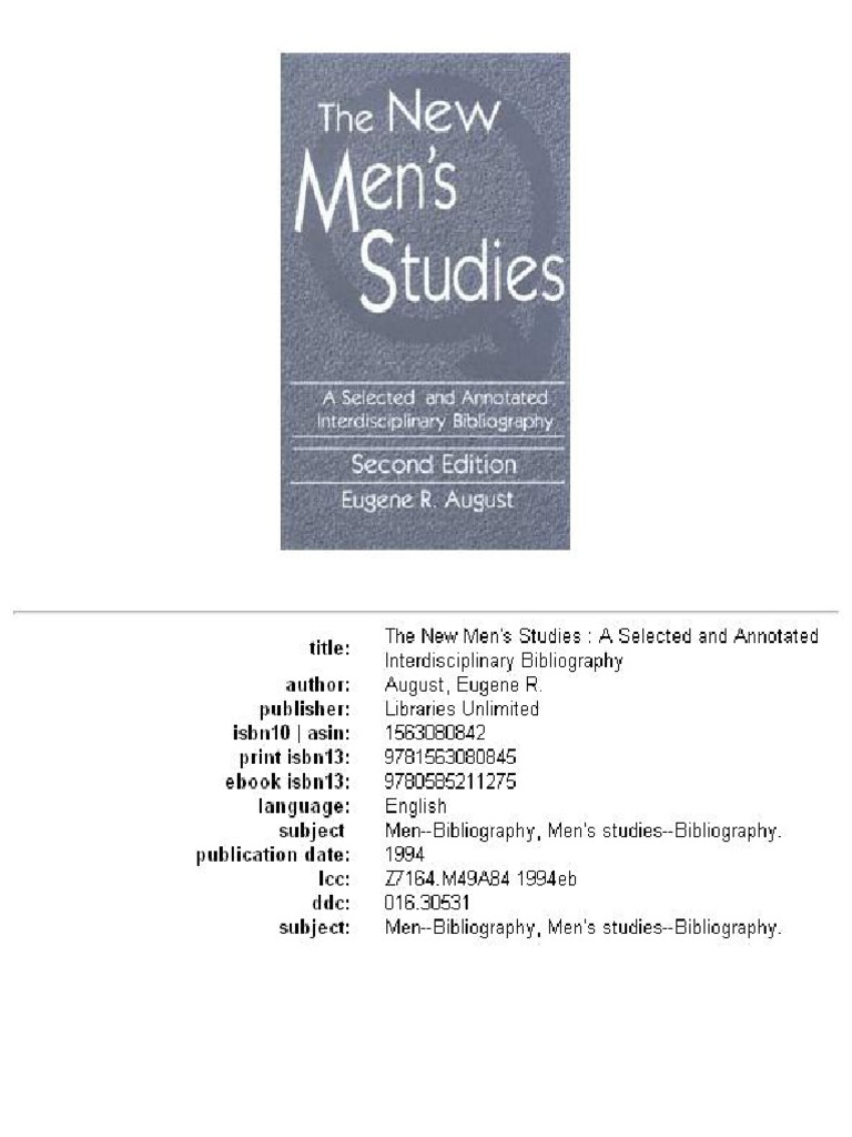 The New Men s Studies  e23cedf0760