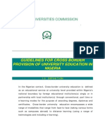 Guideline for Cross Border Education